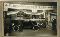 J. C. McLanahan Ford Agency showroom in Collinsville around 1915