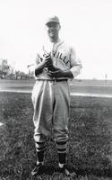 1941 Mike Semanisin Standing on Side of Baseball Field