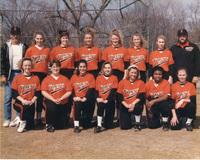 Photograph of the 1993 Women's Tiger Softball Team