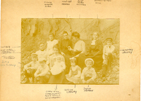 Undated family photograph at the Mudge farm in Grantfork.