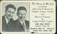 1940 Ticket for Evangelical Lecture in Granite City<br /><br />