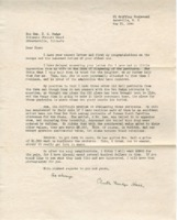 Personal letter to D.H. Mudge from Clinton Mudge Hall, May 31, 1945